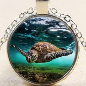 Necklace- NEW- Ocean Life Sea Turtle nautical